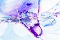 冰与墨水的纹理背景 免版税图库摄影