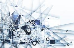 冰与线纹理的抽象技术背景为 免版税库存照片