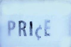 冰价格 免版税图库摄影