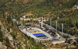 冰体育场在Medeu 卡扎克斯坦 库存照片