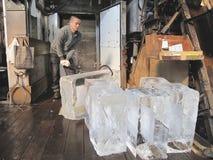 冰供营商 免版税库存照片