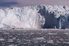 冰冰川格陵兰 库存图片