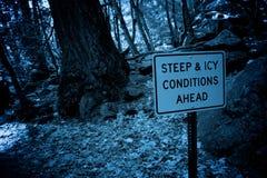冰冷前面的情况 库存照片