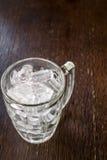 冰冷在玻璃 库存照片