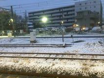 冰冷的冬时在日本 库存图片