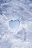 冰冷的冷的蓝色心脏 免版税库存图片