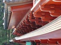 冰冷的寺庙屋顶,日本 免版税库存照片