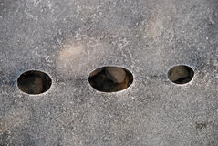 冰冷的小卵石 免版税库存照片