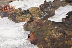 冰冷的小河 免版税库存照片