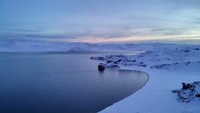 冰冷的平静 图库摄影