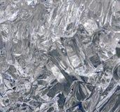 冰冷的抽象,凉快的玻璃状冰摘要背景 库存照片