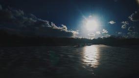 冰冷的日落 库存照片