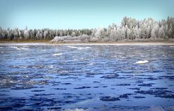冰冷的水 库存照片