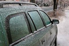 冰冷的汽车 免版税库存照片