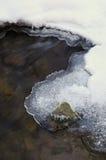 冰冷的流冬天 免版税图库摄影