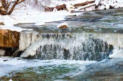 冰冷的瀑布 免版税库存图片
