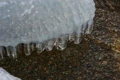 冰冷的石头 图库摄影