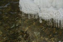 冰冷的石头 免版税库存照片