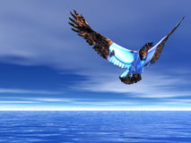 冰冷的老鹰 图库摄影
