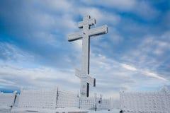 冰冷的耶稣受难象 库存图片