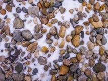 冰冷的色的石头背景 免版税图库摄影