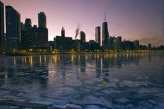冰冷的芝加哥 免版税图库摄影