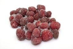 冰冷的草莓 免版税库存图片