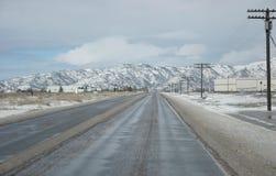 冰冷的路 免版税库存照片
