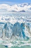 冰冷的风景,佩里托莫雷诺冰川,阿根廷 免版税图库摄影