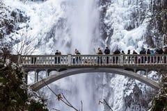 冰冷的马特诺玛瀑布2016年12月 库存照片