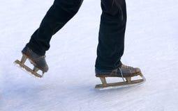 冰减速火箭的冰鞋 库存图片