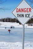 冰变薄 库存照片