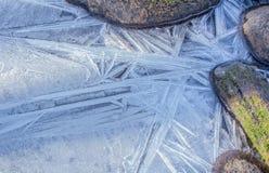 冰和岩石 免版税库存照片