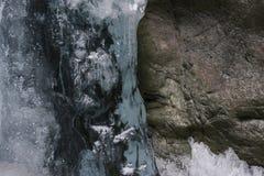 冰和岩石 库存照片