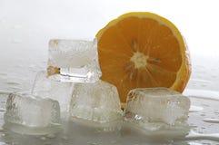 冰和柠檬 免版税库存图片