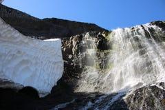 冰和秋天 库存照片