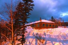 冰和雪世界风景  免版税库存图片
