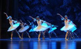 冰和首先雪第四个领域雪国家-芭蕾胡桃钳矮子这行动  库存图片
