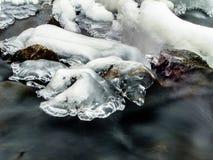 冰和水 免版税图库摄影