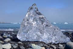 冰在冰岛 免版税库存图片