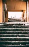 冰在台阶 库存图片