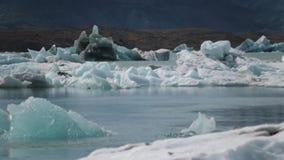 冰在岸附近漂浮在海洋 安德列耶夫 股票视频