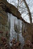 冰在峭壁,山春天,新泽西 免版税库存照片
