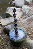 冰在日本庭院里 图库摄影