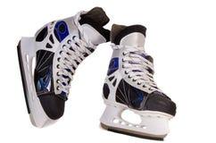 滑冰在白色背景的人的。 免版税库存图片