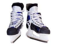 滑冰在白色背景的人的。 图库摄影