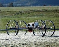 冰在轮子平直球 免版税库存照片