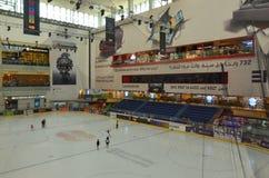 滑冰在迪拜购物中心,迪拜,阿联酋 图库摄影