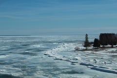 冰在阳光下 库存图片