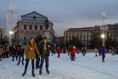 冰在马德里 免版税库存图片
